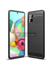 Funda TPU Carbon Flexible Samsung Galaxy A71 A715 negra