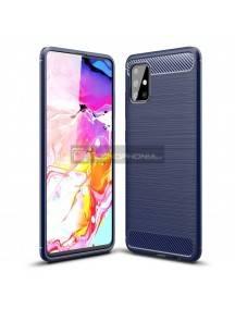 Funda TPU Carbon Flexible Samsung Galaxy A71 A715 azul