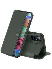 Funda libro Dux Ducis Skin X Samsung Galaxy A71 A715 verde
