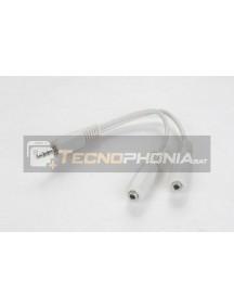 Adaptador de audio jack 3.5mm para auriculares y micrófono 10cm