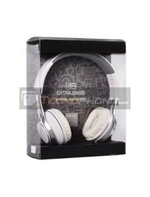 Manos libres diadema Extra Bass EP16 blanco - gris con micrófono