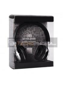 Manos libres diadema Extra Bass EP16 negro con micrófono