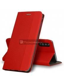 Funda libro TPU Vennus Sensitive Huawei P40 lite roja