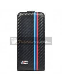 Funda solapa de piel BMW BMFLP5MC carbono Iphone 5 - 5S