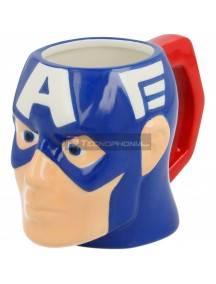Taza cerámica 3D 420ML Capitán América cabeza 8412497909889