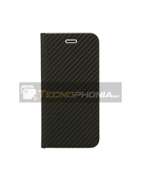 Funda libro Vennus Carbon Samsung Galaxy A71 A715 negra