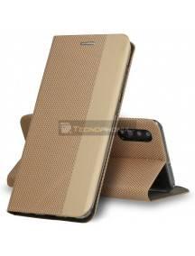 Funda libro TPU Vennus Sensitive Samsung Galaxy A41 A415 dorada