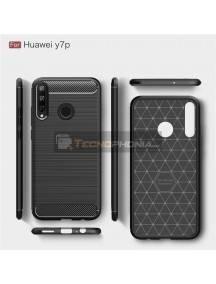 Funda TPU carbon Huawei P40 Lite E - Y7p negra