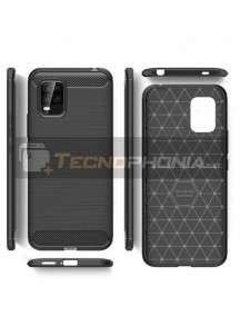 Funda TPU carbon Xiaomi Mi 10 Lite negra