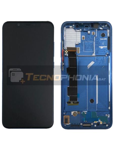 Pantalla LCD display Xiaomi Mi8 azul original (Service Pack)