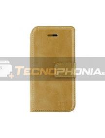 Funda libro Molan Cano Xiaomi Mi Note 10 Lite dorada