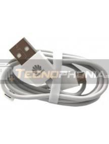 Cable microUSB Huawei blanco