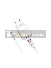 Cargador Borofone BA20A 2.1A Type C blanco