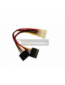 Cable de alimentación Gembird 5.25 Molex a doble SATA