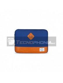 """Funda de neopreno ordenador portátil E-Vitta Heritage azul - naranja 15.60"""""""