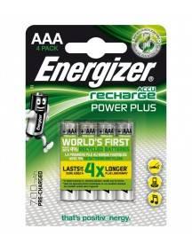 Pila recargable Energizer Power Plus HR03 700MAH AAA pack 4