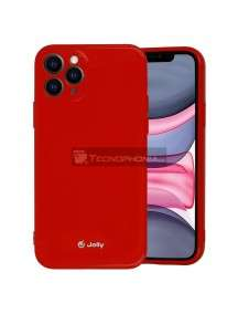 Funda TPU Jelly iPhone 12 - 12 Pro roja