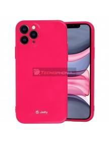 Funda TPU Jelly iPhone 12 - 12 Pro rosa fucsia