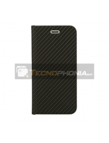 Funda libro Vennus Carbon Samsung Galaxy A80 A805 negra