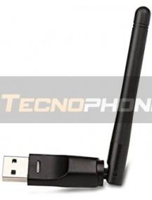 Antena WiFi USB RT5370 para decodificador - receptor satélite digital Freesat V7 HD V8 Super IP-S2