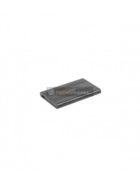 """Caja externa UGO para disco duro HDD/SSD 2.5"""" SATA USB2 aluminio negro"""