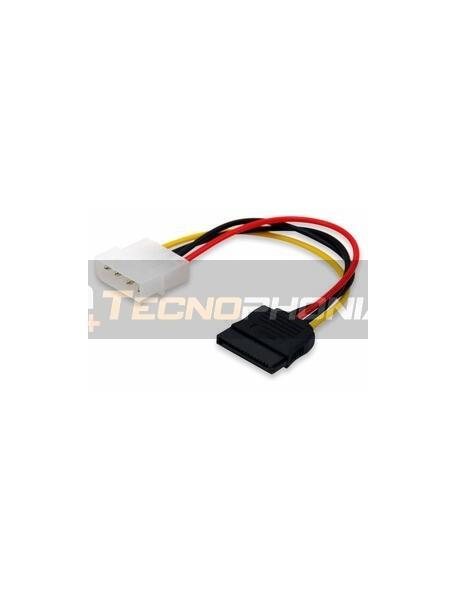 Cable de alimentación OKTech Molex a SATA 0.1m