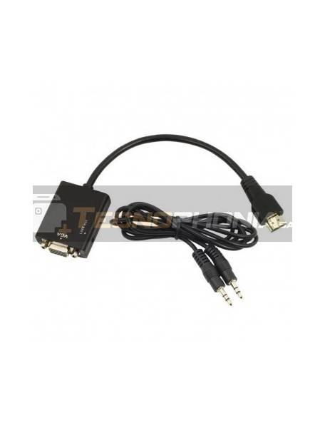 Cable adaptador - conversor Gembird HDMI a SVGA con audio M/H