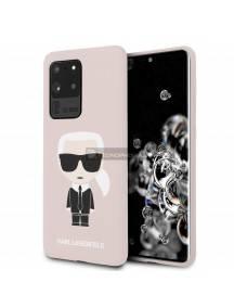 Funda TPU Karl Lagerfeld KLHCS69SLFKPI Samsung Galaxy S20 Ultra G988 rosa