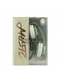 Auriculares infantiles con micrófono Casni CS-28 verde