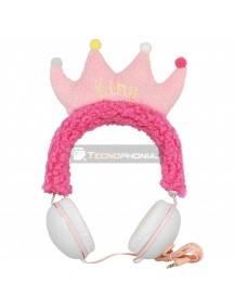 Auriculares infantiles GJBY Plush King rosa