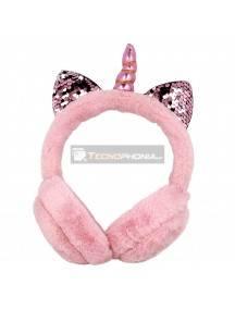 Auriculares infantiles GJBY Plush Unicronio rosa