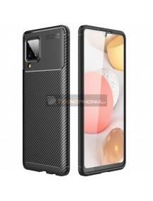 Funda TPU Forcell Carbon Samsung Galaxy A12 A125 negra