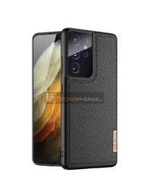 Funda TPU Dux Ducis Fino Samsung Galaxy S21 Ultra G998 Nylon negra