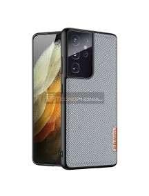 Funda TPU Dux Ducis Fino Samsung Galaxy S21 Ultra G998 Nylon azul