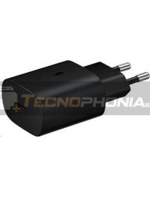 Cargador rápido Type C Samsung EP-TA800NBE 25W 9A negro