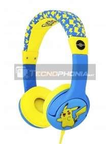 Auriculares infantiles de diadema Pokemon - Pikachu