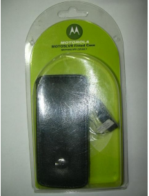 Funda de piel Motorola CFLN1818AA L7 - L6 - L2 negra
