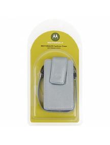 Funda de piel Motorola V3 - V3i plata