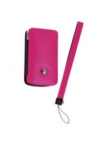 Funda de piel Motorola V3 - V3i rosa con blister