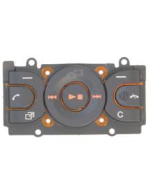 Teclado de navegación Sony Ericsson W595 negro - naranja