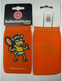 Funda - Calcetín Kukuxumusu perro tenista naranja