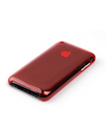 Protector trasero Apple iPhone 3G - 3GS rojo