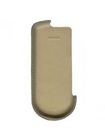 Funda de piel Nokia 8800 beig