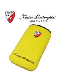 Funda de neopreno Lamborghini amarilla talla M