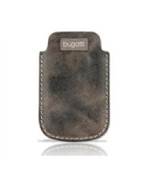 Funda de piel Bugatti marrón country marble talla M
