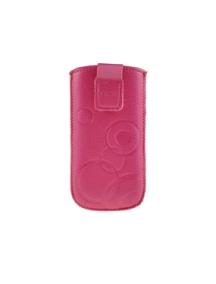 Funda cartuchera en piel Telone Deko rosa para Samsung E250