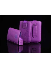 Funda cartuchera en piel Telone Deko lila para Nokia 6300