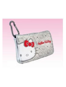 Funda de piel Hello Kitty horizontal plata