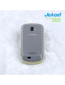 Funda TPU + lamina disp. Jekod Samsung Galaxy Mini S5570 blanca