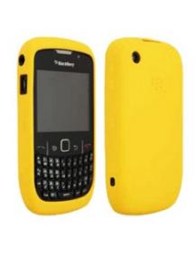 Funda de silicona Blackberry HDW-24211 amarilla 8520 con blister